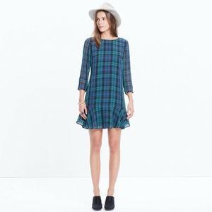 Madewell Larkin Silk Dress with Ruffles